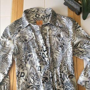 Ruby rd size 6 animal print jacket
